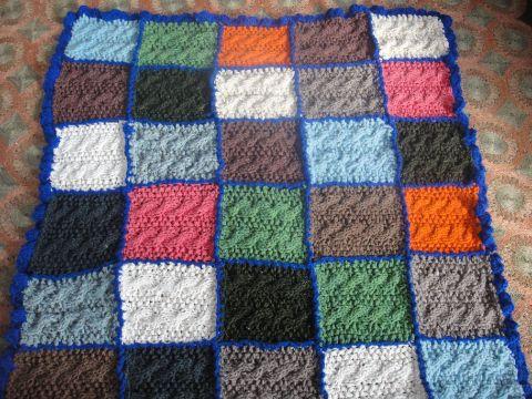 como hacer manta de lana a cuadros a colores