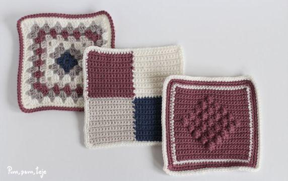 como hacer manta de lana a cuadros grany