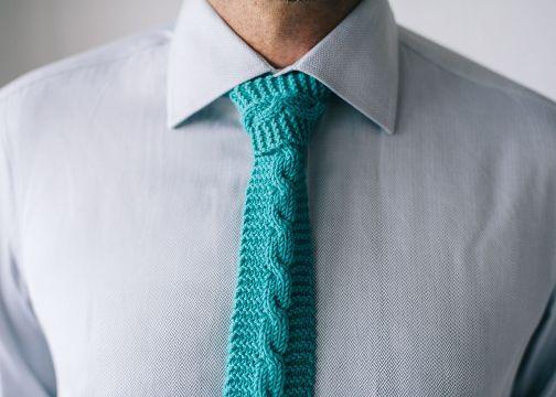 corbatas tejidas para hombre cadena central