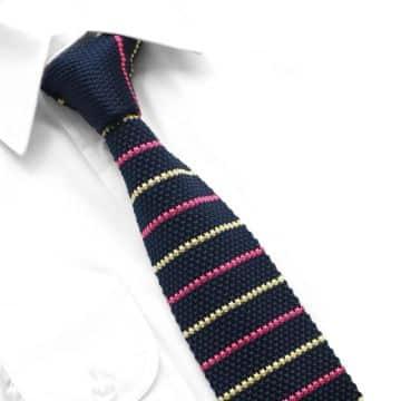 corbatas tejidas para hombre con vivos de colores