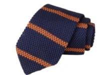 Creacion de corbatas tejidas para hombre a 2 colores