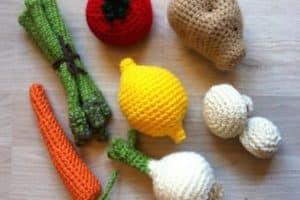 7 frutas y verduras tejidas a crochet estilo amigurumi