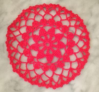 individuales navideños a crochet calados con estrella