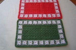 Bonitos individuales navideños a crochet 2 formatos