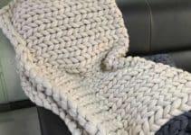 Mantas de lana tejidas a crochet con punto 1/2 extendido