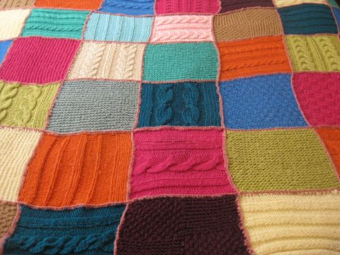 mantas de lana tejidas a crochet muestras diferentes