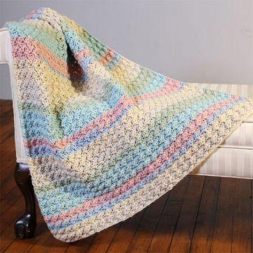 mantas para bebes a crochet a dos colores