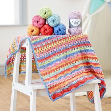 mantas para bebes a crochet diferentes puntadas