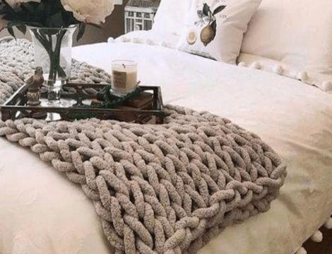 mantas tejidas a mano bonitos diseños