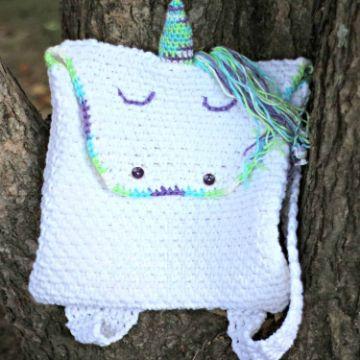 mochilas hechas a ganchillo de unicornio