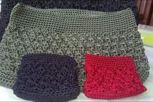 Bonitos morrales tejidos a gancho de 3.5 mm sencillos