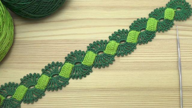 puntillas a crochet paso a paso a dos tonos