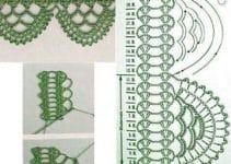 Creativas puntillas de ganchillo para toallas y 2 tejidos