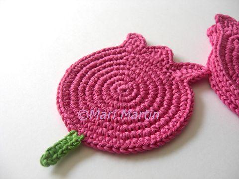 tulipanes tejidos a crochet sencillos