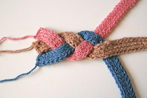 badanas tejidas al crochet trenzas