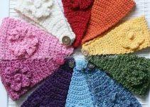 Cómo hacer bandanas tejidas a crochet