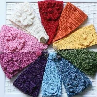 bandanas tejidas a crochet faciles