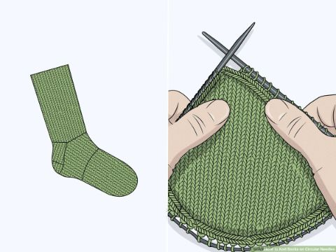 calcetines a dos agujas patrones esquema de creación