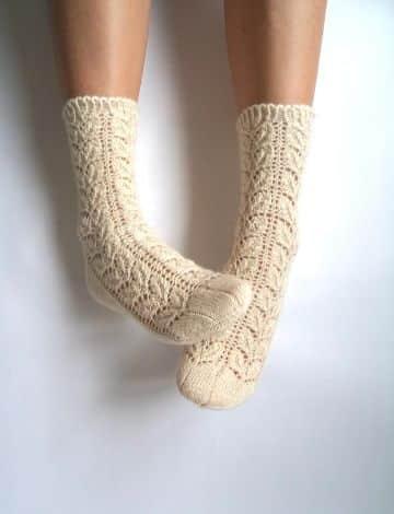 calcetines a dos agujas patrones puntada con texturas