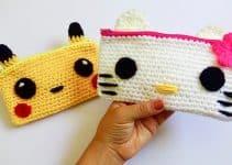 Ideas para cartucheras a crochet de animales