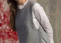 Cómo tejer chalecos de lana para mujer