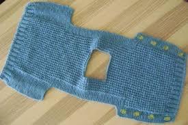 chalecos de lana para niños de una pieza