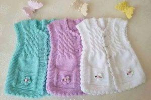 Ideas para tejer chalecos de lana para niños