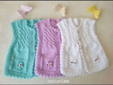 chalecos de lana para niños