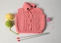 Cómo tejer chalecos de lana para niñas