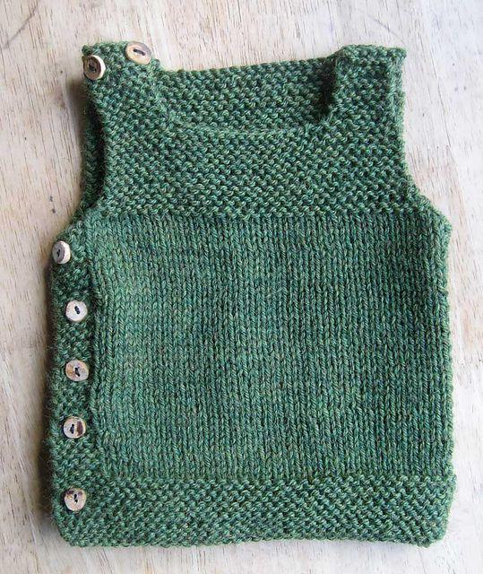 chalecos de lana para niñas de una pieza
