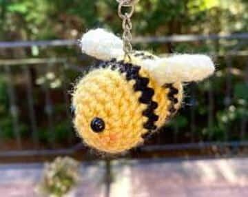 ideas para abeja en crochet llavero