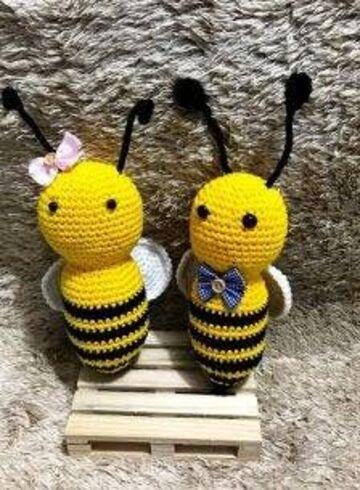 ideas para abeja en crochet personalizada