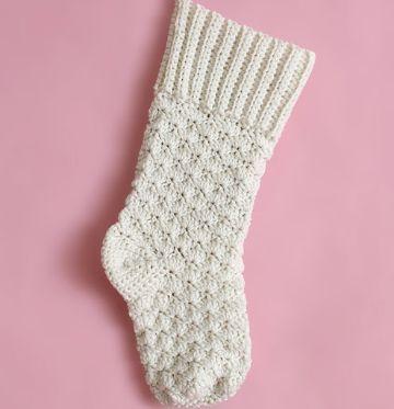medias tejidas a crochet de lana