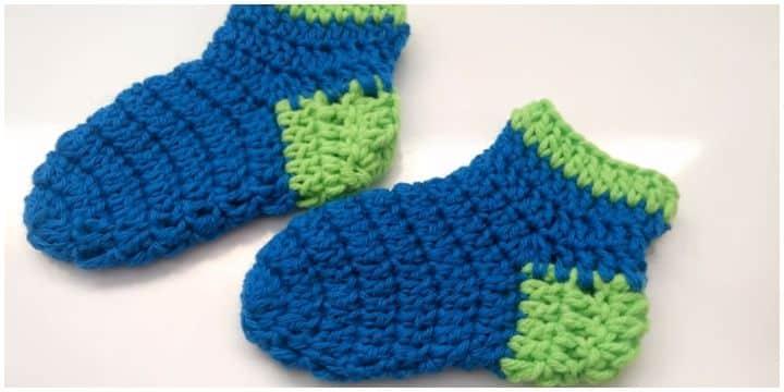 medias tejidas a crochet para bebe