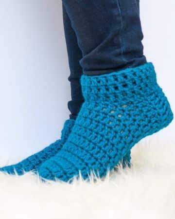 pantuflas a crochet faciles grandes puntadas