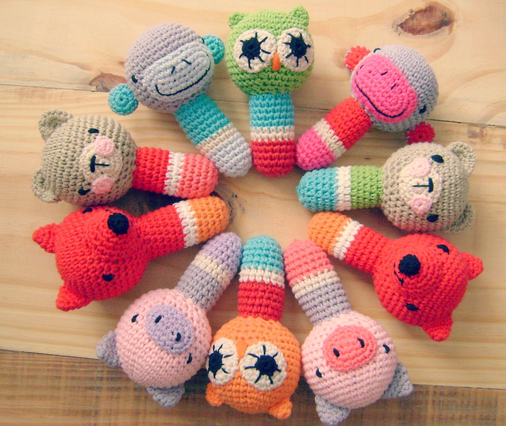 sonajero tejidos a crochet