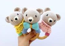 Tiernos sonajeros tejidos a crochet