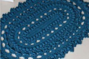 500 gramos de hilo para tapetes a crochet paso a paso ovales
