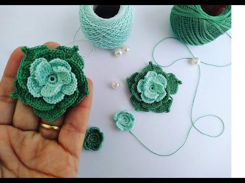 tejidos a crochet flores y hojas patrones