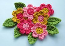 Como hacer 3 tipos de tejidos a crochet flores y hojas