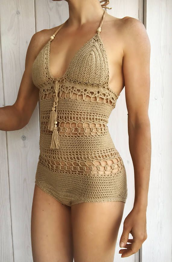 trajes de baño tejidos a crochet