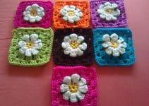 3 motivos cuadrados a crochet