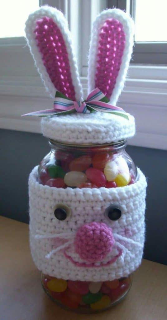 adornos a crochet para la casa contenedores