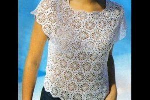 2 pastillas a crochet para blusas