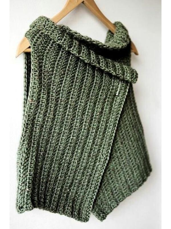 chompas tejidas para señoritas verde