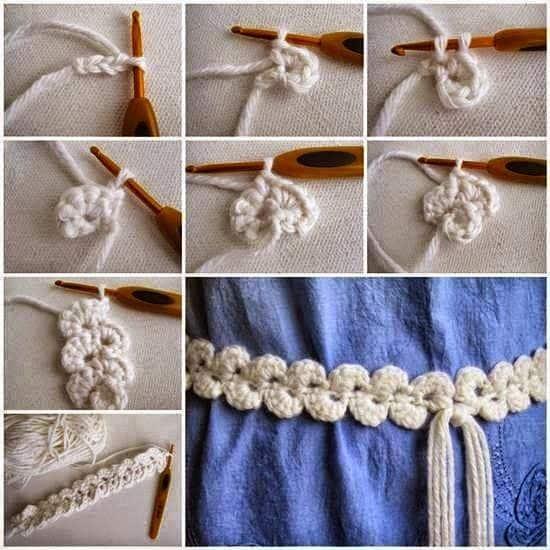 cintos tejidos a crochet paso a paso