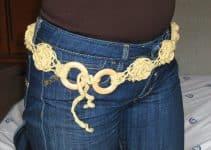 4 cintos tejidos al crochet