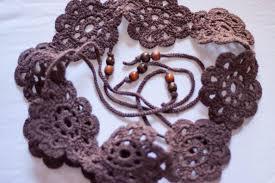 cintos tejidos a crochet faciles
