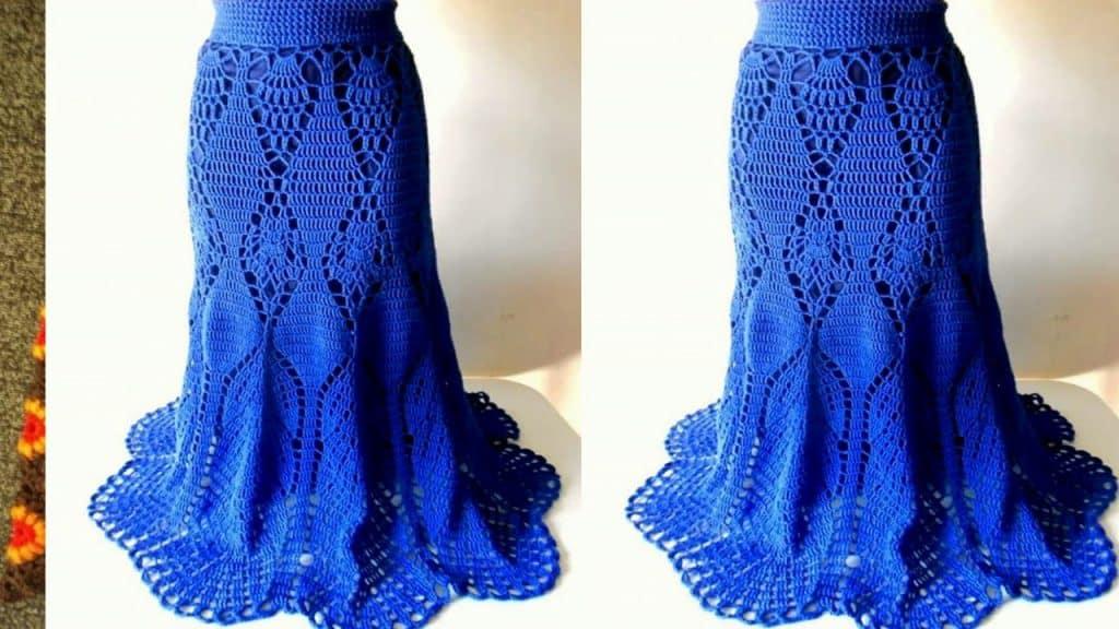 faldas largas tejidas a crochet