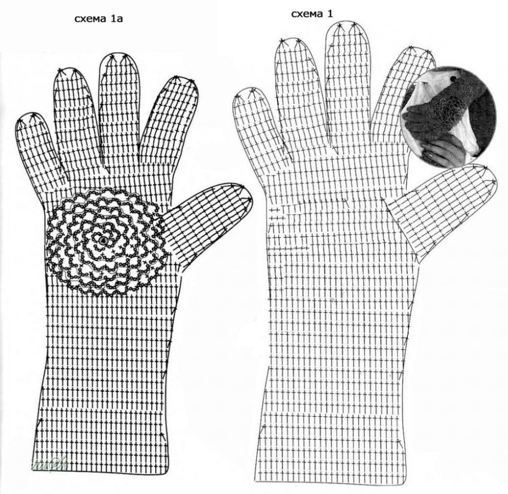 guantes tejidos a crochet para hombre patrones
